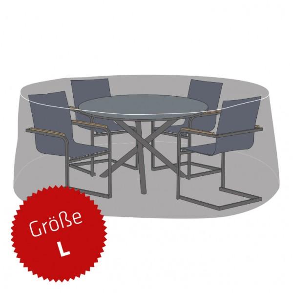 Schutzhaube Premium Polyester für Sitzgruppe rund Größe L
