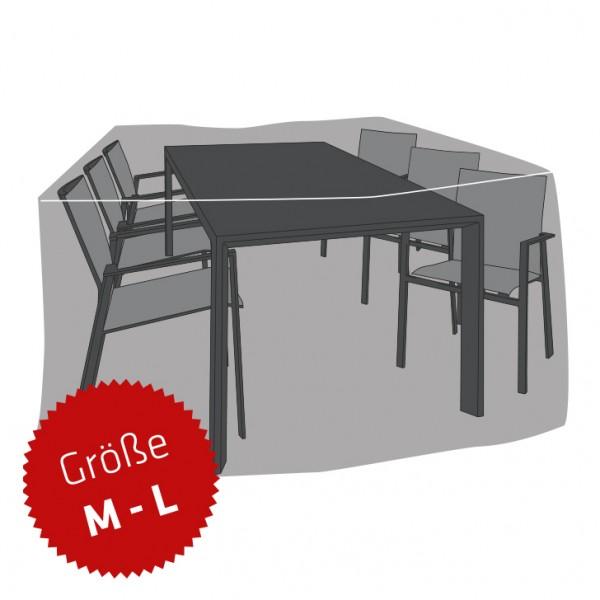 Schutzhaube Premium Polyester für Sitzgruppe rechteckig Größe M-L