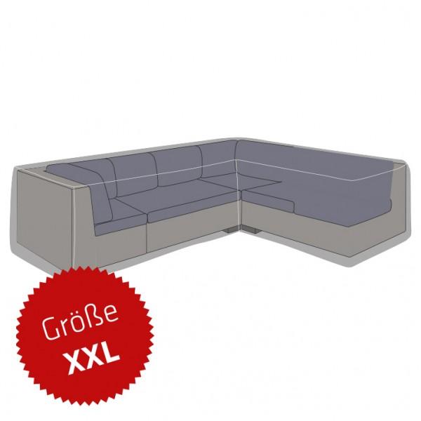 Schutzhaube Premium Polyester für Ecklounge L-Form Größe XXL