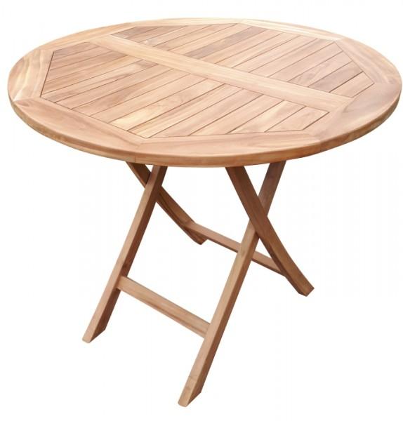 Tisch Woodie 90 cm rund Teak