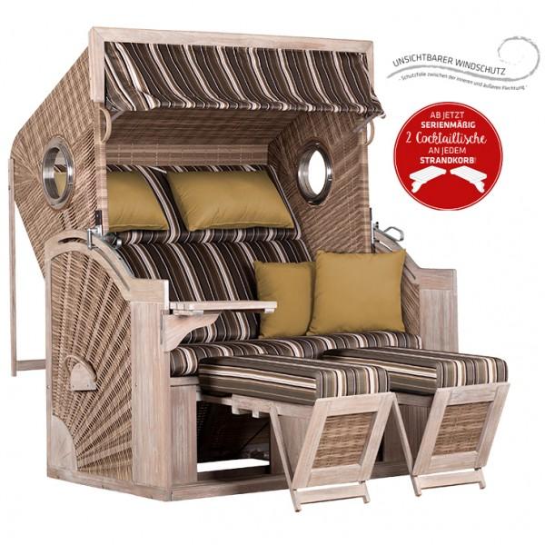 Strandkorb deVries PURE® Seaside XL PE white kubu Dessin 440