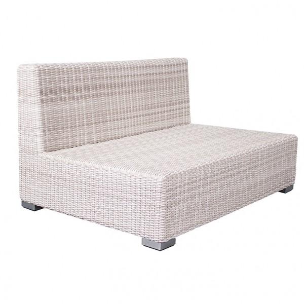 Adriatico Loungebank 2 Sitzer 5 mm white kubu