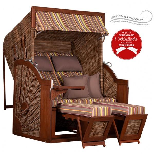 Strandkorb deVries PURE® Comfort XL PE griseum Dessin 441