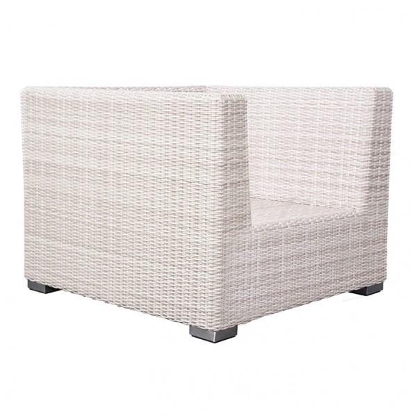 Adriatico Loungesessel 5 mm white kubu