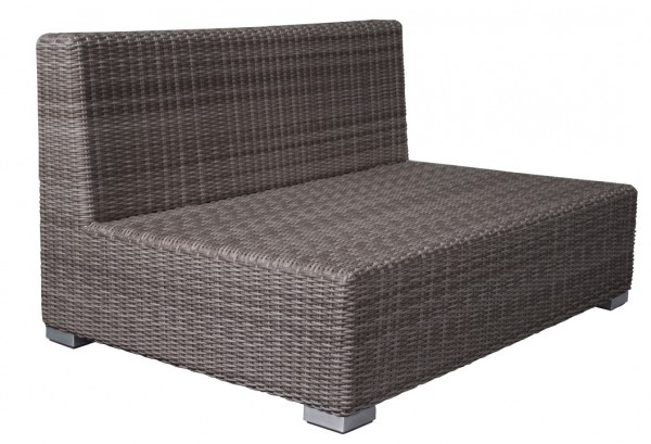 Adriatico Loungebank 2 Sitzer 6 mm taupe grey