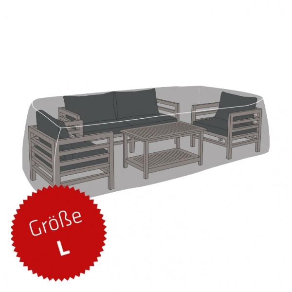 Schutzhaube Premium Polyester für Loungegruppe rechteckig Größe L
