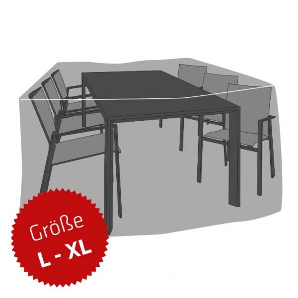 Schutzhaube Premium Polyester für Sitzgruppe rechteckig Größe L-XL