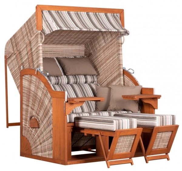 Strandkorb deVries PURE® Comfort XL PE seashell Dessin 455
