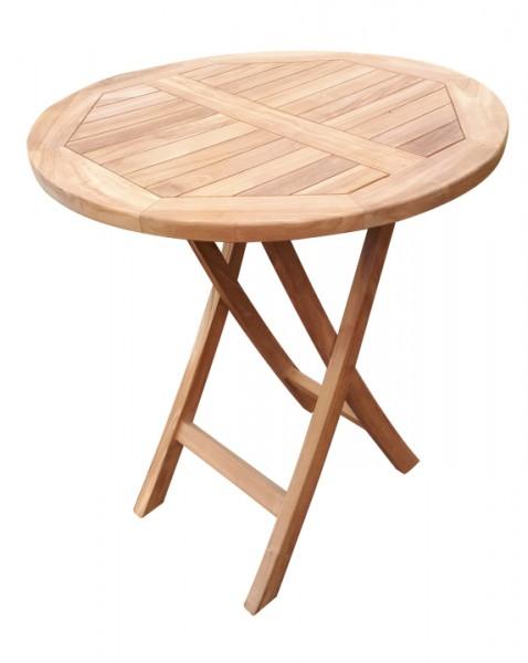 Tisch Woodie 70 cm rund Teak