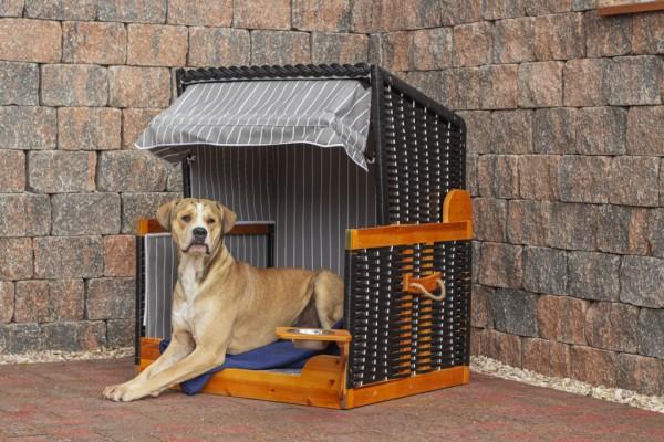 Hundestrandkorb PE anthracite Des.028