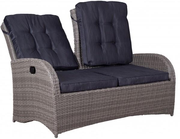 Relaxbank Juan Lounge 2- Sitzer 8 mm smokey grey