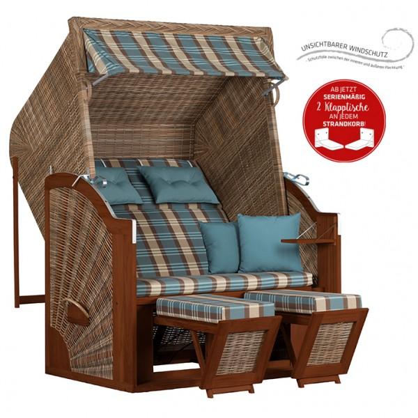 Strandkorb deVries PURE® Classic XL SUN PE griseum Dessin 436