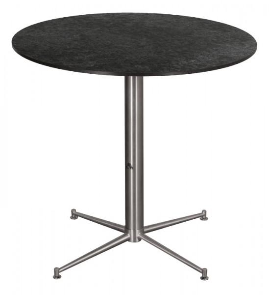 Tisch Willington Edelstahl HPL rund ø 80cm deVries
