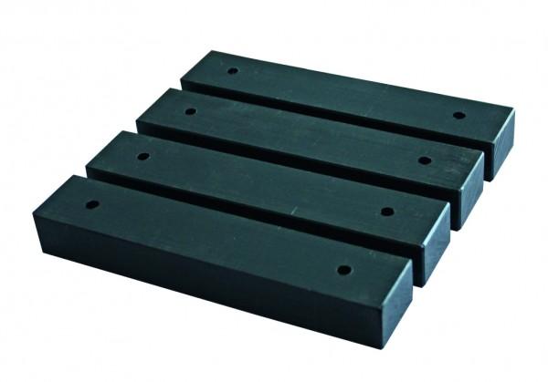 Strandkorb PE-Gleiter Kunststoff black 4er Set