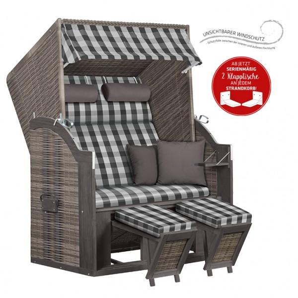Strandkorb deVries PURE® Standard PE grey Dessin 478