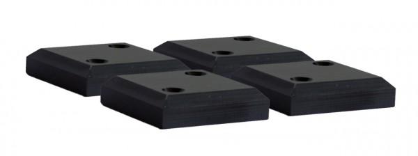 Strandkorb PE-Gleiter Kunststoff black zu Albatros XL 4er Set