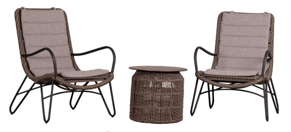 Loungesessel und Tisch Timor Polyrope - KOMPLETTSET